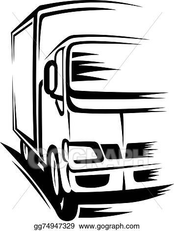 vector illustration moving truck stock clip art gg74947329 gograph rh gograph com  moving van clipart free