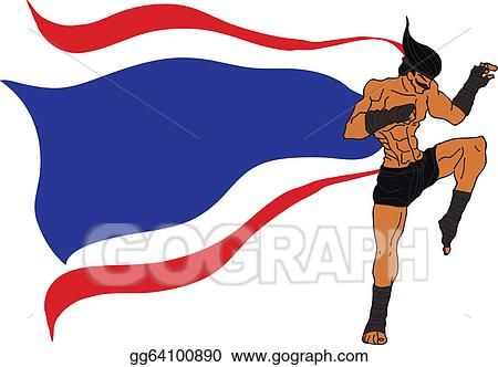 vector illustration muay thai boran flag of thailand stock rh gograph com