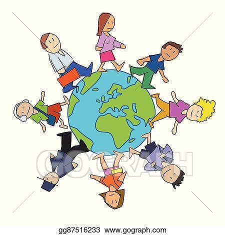 vector illustration multicultural people cartoon stock clip art rh gograph com multicultural clipart free multicultural clipart from around the world