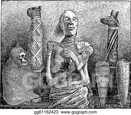 Eps Vector Mummies Vintage Engraving Stock Clipart Illustration Gg61162423 Gograph