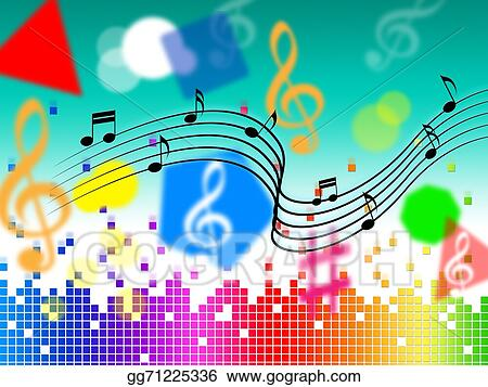 Stock Illustration Music Background Shows Pop Classical Or Rock