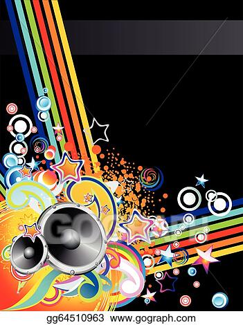 Clip Art Vector Music Colorful Abstract Background Stock