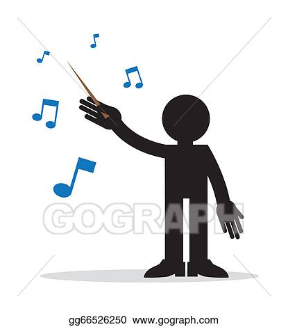 Orchestra Conductors Royalty Free Vector Clip Art illustration  -vc070800-CoolCLIPS.com