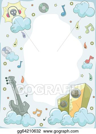 Vector Art Music Elements Doodle Background 3 Clipart Drawing