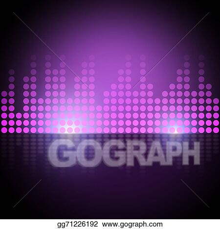 Stock Illustration - Music equalizer background means electronic