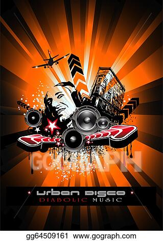 Vector Art Music Event Background With Crazy Dj Shape For Disco