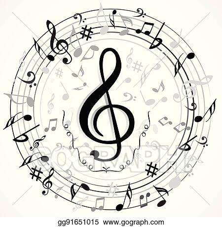Vector Art Music Note Background Clipart Drawing