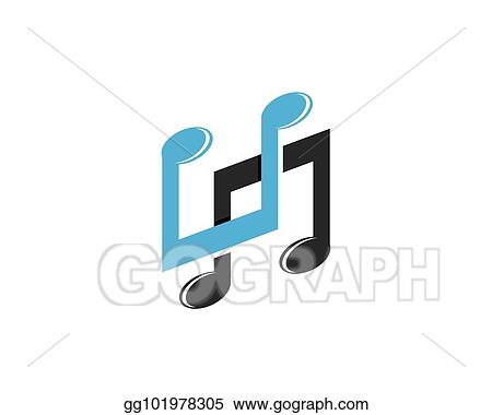 Vector Illustration Music Note Symbols Logo And Icons Template
