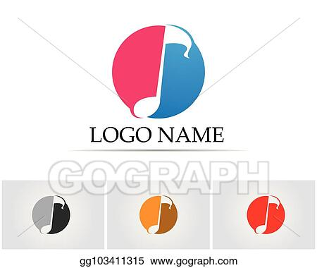 Vector Illustration - Music note symbols logo and icons