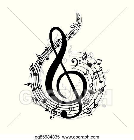 Vector Clipart - Music note. Vector Illustration ...