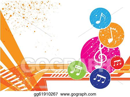 Eps Vector Music Notes Icon Background Design Stock Clipart