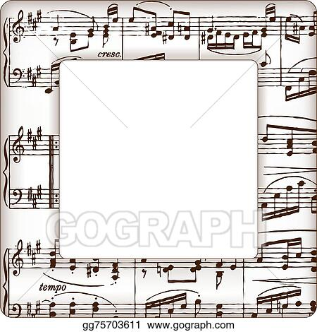 music notes picture frame - Music Note Picture Frame