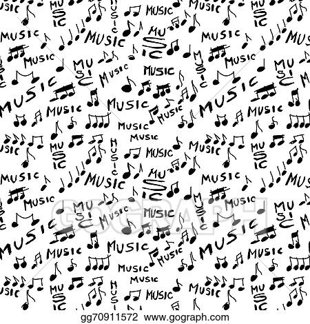 music word and musical notes