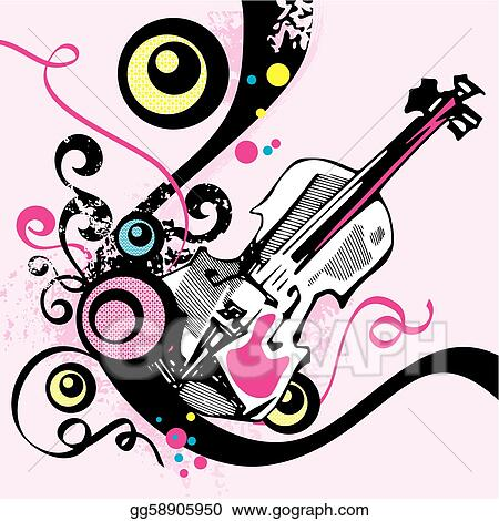 Vector Illustration Musical Background Eps Clipart Gg58905950