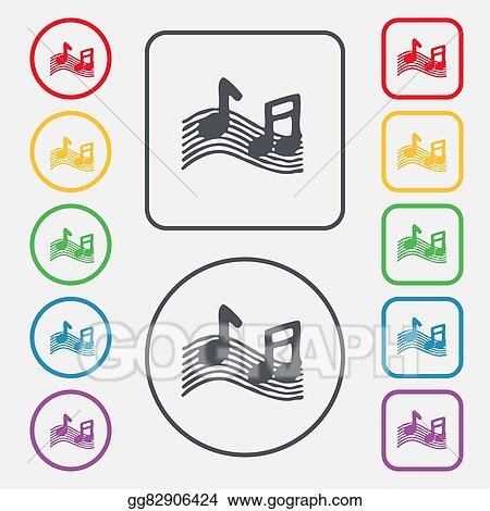 Stock Illustration Musical Note Music Ringtone Icon Sign Symbol