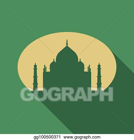 Vector stock muslim mosque isolated on white background traditional arabesque ornament crescent and stars vector illustration eid mubarak greetings ramadan kareem flat style sheikh zayed grand mosque m4hsunfo
