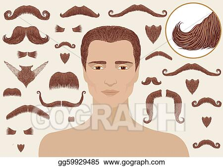 Astounding Vector Art Mustaches And Beards For Man Big Collection Isolated Schematic Wiring Diagrams Amerangerunnerswayorg