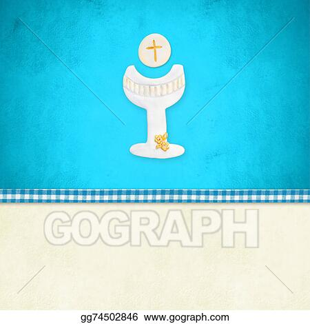 Stock Illustration My First Holy Communion Invitation Reminder