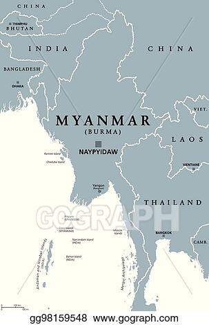 Vector Stock - Myanmar burma political map. Stock Clip Art ... on tri-state area map, east of mississippi map, usa map, greater seattle area map, los angeles area map, michigan state map, eastern us map, southern u.s. map, intermountain west map, natural gas fracking map, idaho state map, asia pacific region map, new york senate district map, mid-atlantic region map, local map, northeastern us map, state flag map, best road trip map, continental u.s. map, greater boston area map,