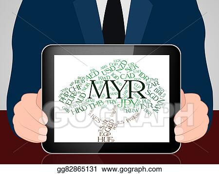 Clipart - Myr currency represents malaysian ringgit and