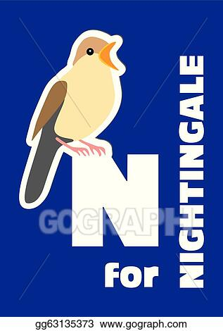 Image of: Abc For The Nightingale An Animal Al Gograph Vector Illustration For The Nightingale An Animal Al Stock