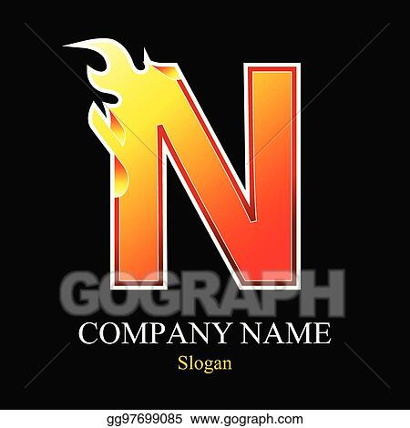 N Letter Fire Logo Design