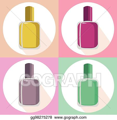 vector stock nail polish vector set icon template colorful package