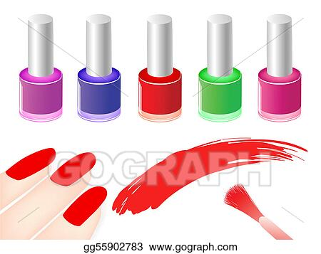 Vector Art Nail Polish Clipart Drawing Gg55902783 Gograph