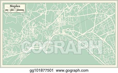 Vector Illustration - Naples italy city map in retro style. outline ...