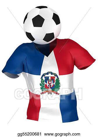 premium selection a778b 8643c Stock Illustration - National soccer team of dominican ...