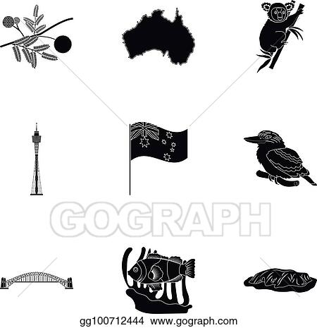 Vector Art National Symbols Of Australia Web Icon On Australia