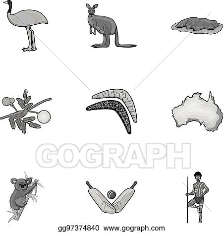 Clip Art Vector National Symbols Of Australia Web Icon On