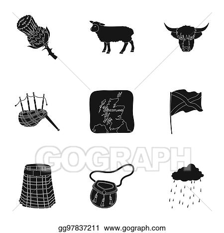 Drawings National Symbols Of Scotland Scottish Attractions