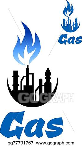 vector art natural gas extraction factory icon eps clipart rh gograph com natural gas energy clipart oil and natural gas clipart
