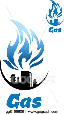 vector art natural gas refinery factory icon clipart drawing rh gograph com natural gas meter clipart
