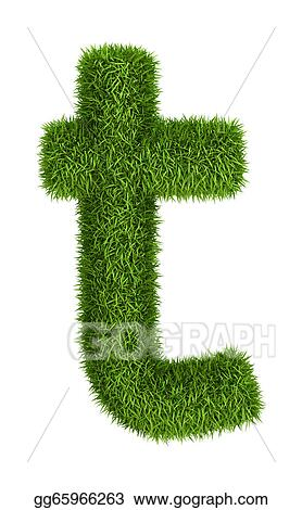 5eed7703b Stock Illustration - Natural grass letter t lowercase. Clipart ...