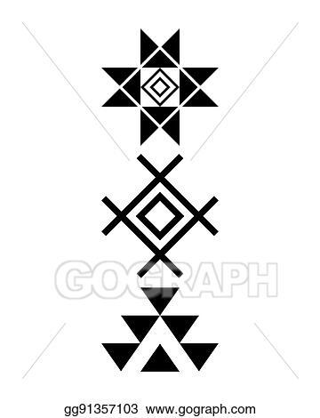 Vector Clipart Navajo Print Aztec Pattern Tribal Design Native