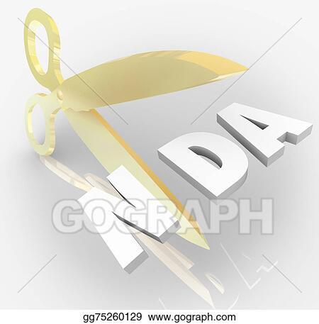 Stock Photography Nda Non Disclosure Agreement Scissors Cutting
