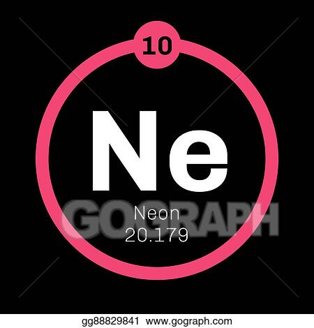 Stock Illustration Neon Chemical Element Clipart Gg88829841 Gograph