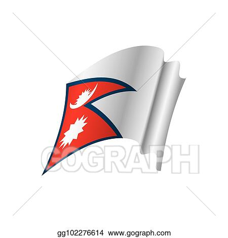 Vector Art - Nepal flag, vector illustration  Clipart