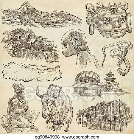 Drawing Nepal Pictures Of Life Travel Full Sized Hand Drawings