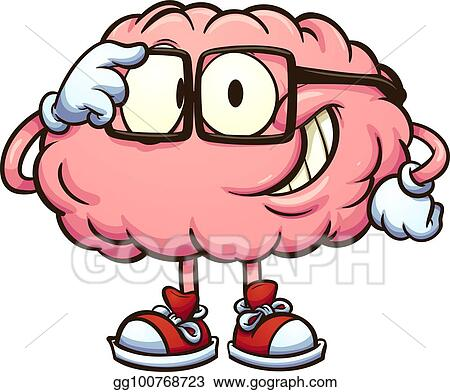 vector art nerdy brain clipart drawing gg100768723 gograph https www gograph com clipart license summary gg100768723