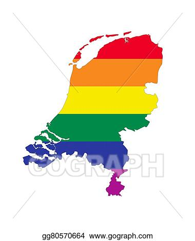 Stock Illustration Netherlands gay map Clipart Drawing