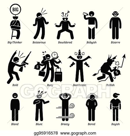 vector illustration neutral character traits with b eps clipart