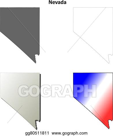 Vector Clipart Nevada Outline Map Set Vector Illustration Gg80511811 Gograph