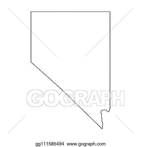 Vector Stock Nevada State Of Usa Solid Black Outline Map Of Country Area Simple Flat Vector Illustration Stock Clip Art Gg111585494 Gograph