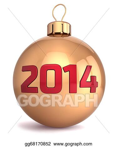 Christmas Ball Clipart.Stock Illustration New 2014 Year Bauble Christmas Ball