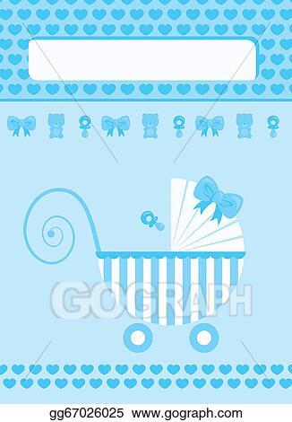 Stock illustration new born baby boy greeting card clip art new born baby boy greeting card m4hsunfo