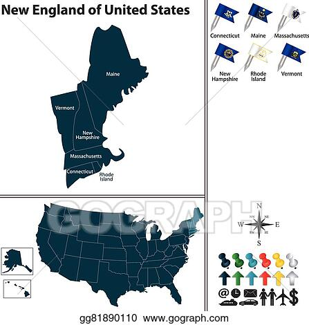 Vector Stock - New england of united states. Stock Clip Art ... on florida map clipart, europe map clipart, colorado map clipart, ohio map clipart, mississippi map clipart, united states map clipart, rhode island map clipart, pennsylvania map clipart, ireland map clipart, louisiana map clipart, honduras map clipart, minnesota map clipart, great britain map clipart, maryland map clipart, canada map clipart, indiana map clipart,