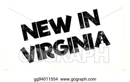 New In Virginia Rubber Stamp